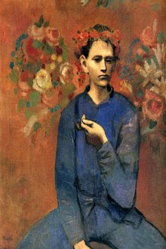 A Boy with Pipe by Pablo Picasso - canvas print