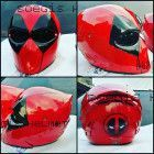 Deadpool hemet for motorcycle approved dot- - Custom Motorcycle Helmets, Custom Helmets, Motorcycle Style, Motorcycle Design, Motorcycle Gear, Motorcycle Accessories, Custom Bikes, Motorcycle Equipment, Motorcycle Events