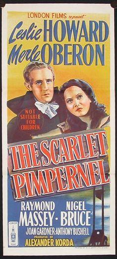 """""""The Scarlet Pimpernel"""" (1934) Leslie Howard, Merle Oberon"""