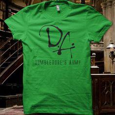 Geeky Merch | Dumbledore's Army - Green T-Shirt | Harry Potter | Nerd
