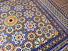 Mosaïque à Marrakesh