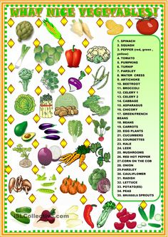 What nice vegetables!: matching