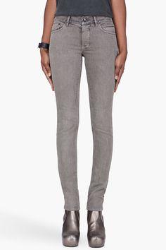 RICK OWENS DRKSHDW grey Detroit Cut jeans