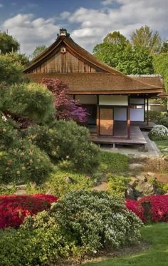 Shofuso Japanese House & Garden at  Fairmount Park in Philadelphia, Pennsylvania