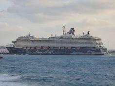 Puerto de Las Palmas. Gran Canaria     : Mein Schiff 4 Crucero en el Muelle de Puerto del R...