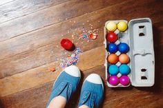 cinco de mayo - NO WAY - Pinata Eggs.  Should have blown out the Easter eggs and made them BRIGHTER!