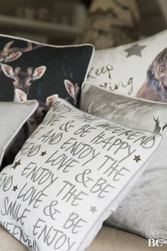 Bastion Collection Winter 2015 #Cushions #Letters