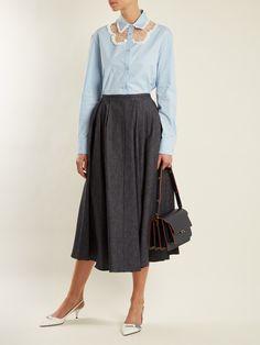 Lace-insert stretch-cotton shirt | Rochas | MATCHESFASHION.COM