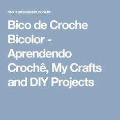 Bico de Croche Bicolor - Aprendendo Crochê, My Crafts and DIY Projects