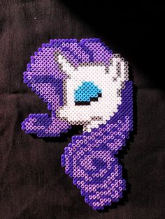 MLP Rarity perler beads by Nostra-Drawing