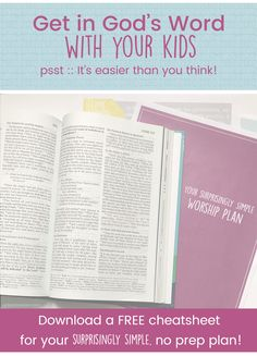 a SIMPLE way for moms to be consistent reading the Bible with their kids!!!