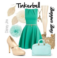 Tinkerbell- Dapper Day by shannazz on Polyvore featuring Topshop, Dorothy Perkins, VC Signature, Bonnie Star, Forever 21, Disney and vintage