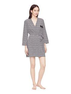 black stripe robe - Kate Spade New York