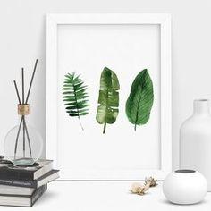 Palm Leaf Botanical Print Watercolour