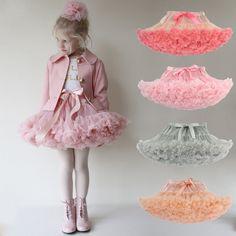 Baby Girls Tutu Skirts With Bow Lace Tulle Skirt 2017 Summer Dance Costume Party Pettiskirt Tutus