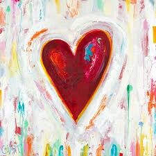Valentine Day Love, Valentine Day Cards, Valentines, I Love Heart, Happy Heart, Canvas Painting Tutorials, Diy Painting, Flame Art, Paint And Sip