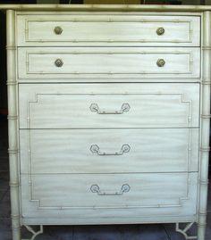 Thomasville Allegro Faux Bamboo Highboy Dresser