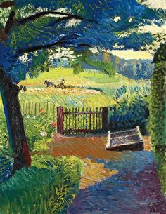 Cuno Amiet was a Swiss painter, illustrator, graphic artist and sculptor. As the first Swiss painter to give precedence to colour in composition, he was a pioneer of modern art in Switzerland