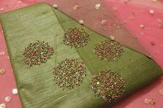 Bead work Salwar suit Indian salwar kemeez Click visit link for more details Kurta Designs, Blouse Designs, Beaded Embroidery, Hand Embroidery, Salwar Suits, Designer Wear, Dresses For Work, Beads, Sewing