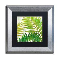 "Trademark Art 'Brasilia II' Framed Graphic Art Size: 11"" H x 11"" W x 0.5"" D, Mat Color: Black"