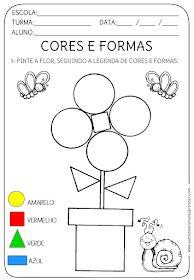 A Arte de Ensinar e Aprender: ATIVIDADE PRONTA - CORES E FORMAS