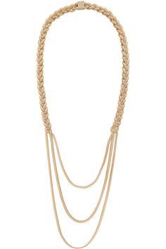 RosanticaCobra gold-tone necklace