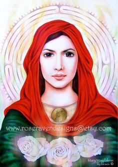 GRAND Mary Magdalene imprimer par raven rose par roseravendesigns