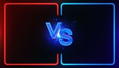 Neon Versus Battle, vs collision of futuristic letters with glow and glare of light on a red-blue background, confrontation concept, competition vs match game, martial battle vs sport. Versus battle - Buy this stock vector and explore similar vectors at A Team Logo Design, Game Ui Design, Best Photo Background, Light Background Images, Army Wallpaper, Iphone Background Wallpaper, Youtube Banner Backgrounds, Blue Backgrounds, Youtube Channel Art