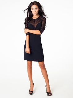 Jamie Woven Cocktail Dress - Black