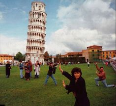 Pisa tourists! hahaha!! I have picture of my older brother and I doing this!