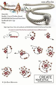 44 New Ideas crochet jewelry patterns free beaded bracelets Crochet Jewelry Patterns, Beading Patterns Free, Beading Tutorials, Bead Patterns, Weaving Patterns, Color Patterns, Knitting Patterns, Embroidery Patterns, Free Pattern