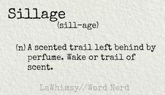 sillage definition