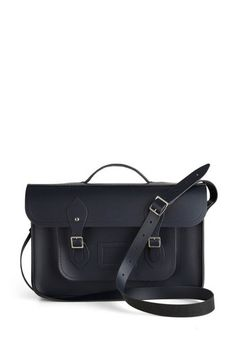 """Upwardly Mobile Satchel in Navy - 15"""", #ModCloth"""