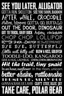 See you later alligator - Goodbye Sign See You Later Alligator After While Crocodile Subway Art Nursery Rhyme Teacher Decor Childrens Art 5 Colors Included Cute Quotes, Great Quotes, Funny Quotes, Funny Memes, Inspirational Quotes, Smile Quotes, Funny Videos, Usmc Quotes, Hilarious