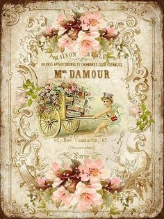 Get your hands on a great Vintage French postcard from Zazzle. Find a large selection of sizes, shapes and paper types for your Vintage French postcard needs. Vintage Diy, Images Vintage, Decoupage Vintage, Decoupage Paper, Vintage Pictures, Vintage Stuff, Vintage Printable, Vintage Labels, Vintage Ephemera
