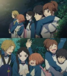 Yoshioka Futaba, Mabuchi Kou, Makita Yuuri, Murao Shuuko and Kominato Aya. Manga Anime, Anime Art, Ao Haru Ride Kou, Tanaka Kou, Futaba Y Kou, Best Romance Anime, Miraculous, Blue Springs Ride, Cute Love Stories