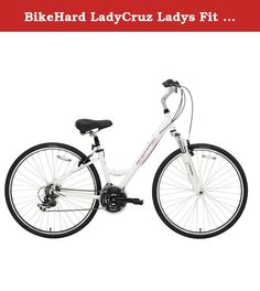 """BikeHard LadyCruz Ladys Fit White. The BikeHard LadyCruz is a perfect everyday bicycle for the fitness oriented lady. An ingeniusly designed Lady Fit geometry makes this frame perfect for virtually any lady from 4'8"""" - 5'10"""". With its low step frame, ease of operation (as well as getting on and off) provides a confident ride. It is constructed of the highest quality custom drawn 6061 double butted aluminum. It is then brushed and polished to a high lustre. Internal cable routing on both..."""