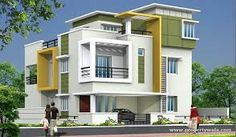 30 ideas apartment building staircase dream homes for 2019 3 Storey House Design, Bungalow House Design, House Front Design, Small House Design, Best Modern House Design, Latest House Designs, Modern House Plans, Cool House Designs, Exterior Paint Colors For House
