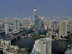 There are stunning views of the Chao Phraya River available from the upper floors of the State Tower Building...