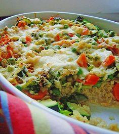 Quinoa - Gemüse - Auflauf, ein sehr schönes Rezept aus der Kategorie Gemüse. Bewertungen: 100. Durchschnitt: Ø 4,2.