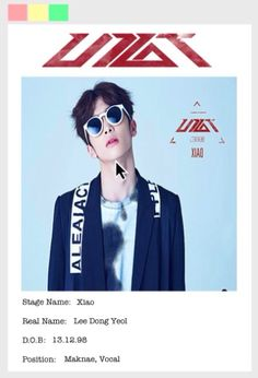 UP10TION Member profile Xiao