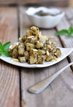Potato Salad with Basil Pesto and Ginger.