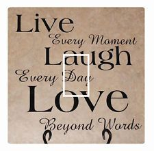 Live Love Laugh Light Switch Cover Sticker Shabby Chic French Home Lounge Kitch