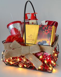 Don't know what to give a tween? This age appropriate gift basket is full of luxury like Godiva chocolates and pampering items! Completely swoon-worthy!