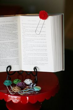 Who wouldn't like a sweet little bookmark like this?  Perfect to add to any book gift.