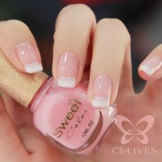 BeautifyNails Sweet color green nail polish princess classic French combination of sweet milk porcelain white pink nail enamel