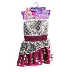 The Barbie Rockin Royals Dress Features:<br><ul><li>Ages 3 Years and Up</li><br><li>100% Polyester</li><br><li>Hook and Loop closure</li><br><li>Includes 1 Dress</li><br><li>Spot Clean only</li></ul>