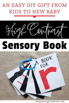 High Contrast Sensory Baby Book • The Growing Creatives