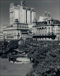 O Clube Comercial e o Palacete Prates 1 em 1930