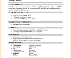 1923 best Resume Format images on Pinterest   Cv template, Resume ...